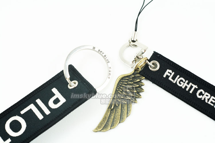 Pilot Tag & Flight Crew Strap with Metal Wing Special Gift for Aviation Lovers FLight Crew
