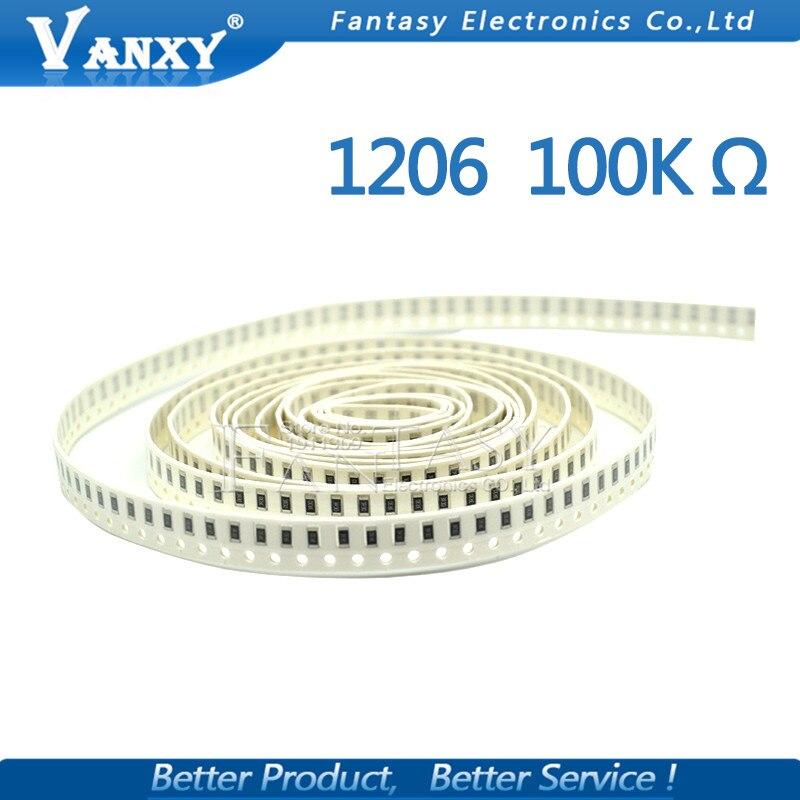 SMD // SMT RESISTOR // 100K OHM // 104 R // 1/% 1206 10 50 or 100pcs 20