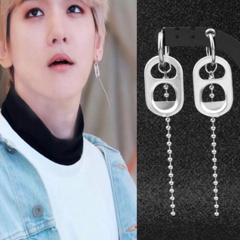 Ambitious 1pcs Korea Pop Bangtan Boys Bulletproof Boy Jimin Same Style Tassel Unisex Drop Earrings For Women Men Jewelry Brinco Drop Earrings Jewelry & Accessories