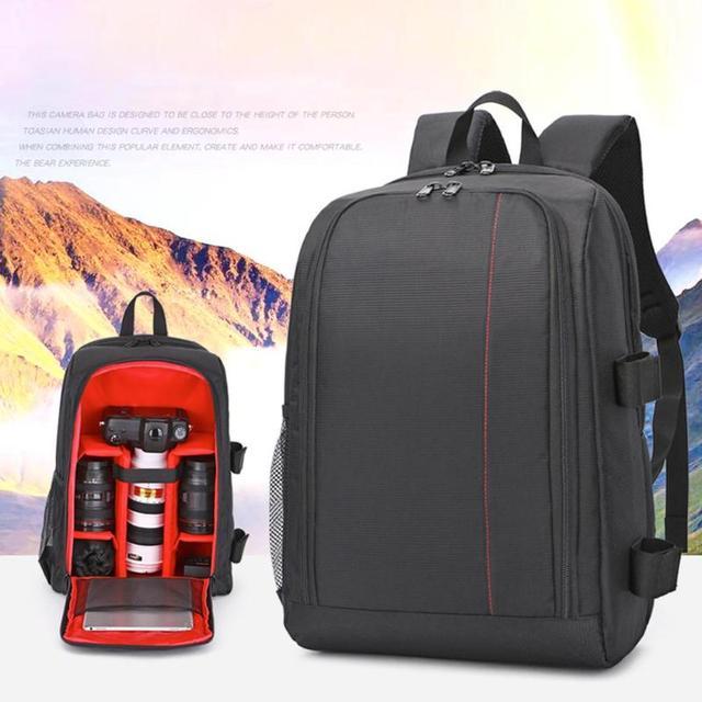 Unisex Travel Camera Backpack Waterproof Digital DSLR Photo Padded Bag Laptop 15.6inch Multi functional Soft Video Rucksack