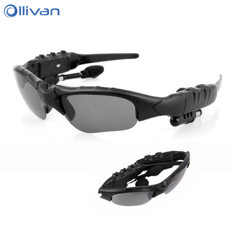 OLLIVAN Sport Bluetooth Sunglasses Headset Stereo Wireless Ridding Glasses Earphone Top Quality Earbud for Smart Phone for Sport ollivan b3 bluetooth headset 3 5mm aux foldable sport stereo headphone support tf card handsfree wireless earphone for phones pc