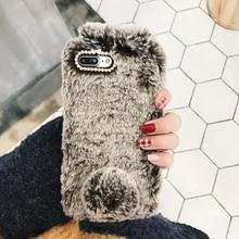 Fur Rabbit Iphone Case for iPhone XR,6 Plus, 6,  XS, 6s, 7, XS MAX, 5s,7 Plus, X, SE, 8, 5, 5c,6s plus, 8 Plus