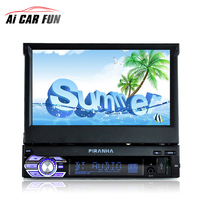 1Din 7 inch HD Digital Display Retractable Screen Car MP4 MP5 Player Stereo FM transmitter Car Audio Radio Support Rear Camera