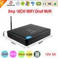 5mp/4mp/3mp/2mp/1mp caméra IP plastique 12V 3A dissipateur de chaleur Hi3536D XMeye H.265 + 5mp 16CH 16 canaux WIFI Onvif Mini CCTV NVR