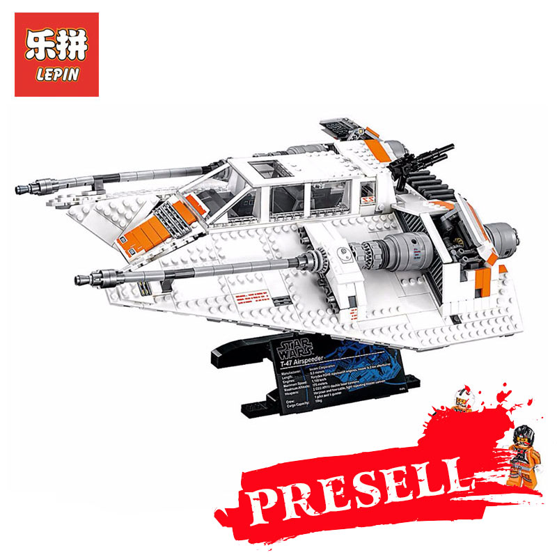 Lepin 05084 Star Wars Series Snowspeeder Self-Lock Model Building Blocks Bricks Educational Toys for boys Gift LegoINGlys 10129 star wars boys black