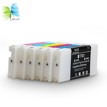 6 colors / Lot ink cartridge with dye ink and chip for Epson surelab d700 minilab printer for epson t2521 t2522 t2523 t2524 ink cartridge ciss for wf3620 wf3640 ink jet printer with ink with chip free shipping hot sale