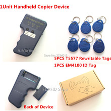 Handheld 125Khz RFID Copier Portable ID Card Cloner ID Card Copy writer 5pcs EM4305 T5577 RFID
