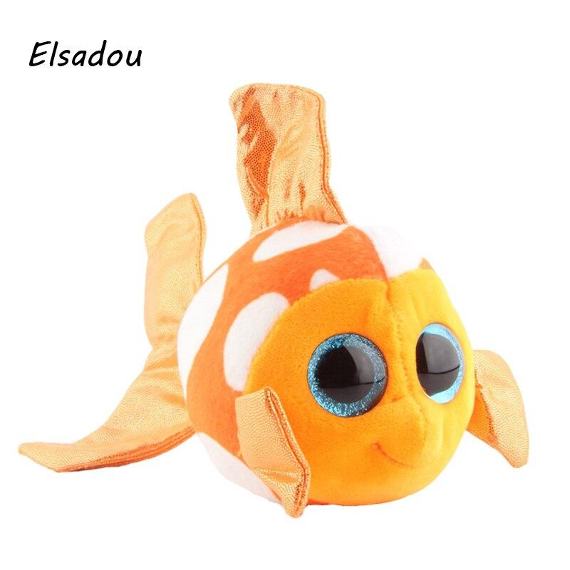 Elsadou Ty Beanie Boos Stuffed Plush Animals Goldfish font b Toy b font Doll