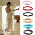 Hot Selling Sumsoar Jewelry Genuine Sheepskin Warp Leather Bracelet for DIY Charms fit Women Gift