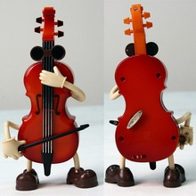 Plastic Violin Simulation Musical Playing Music Box Arts Decoration Kids Toy New