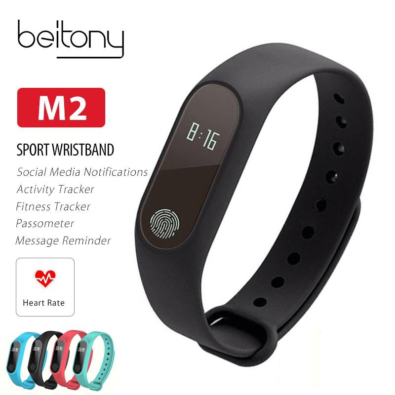 Fitness pulsera actividad Tracker Monitor de sueño de ritmo cardíaco OLED USB carga Smart Wristbands IOS Android PK K1 miband 2