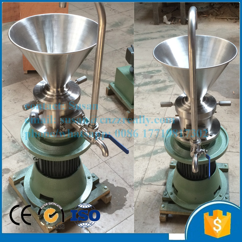 Food Industry chocolate, soy sauce electric food mill/peanut butter colloid mill grinding machine price
