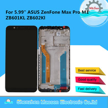 "Original 5.99"" M&Sen Frame For Asus Zenfone Max Pro M1 ZB601KL ZB602KL LCD Screen Display Touch Panel Digitizer For ZB602KL"