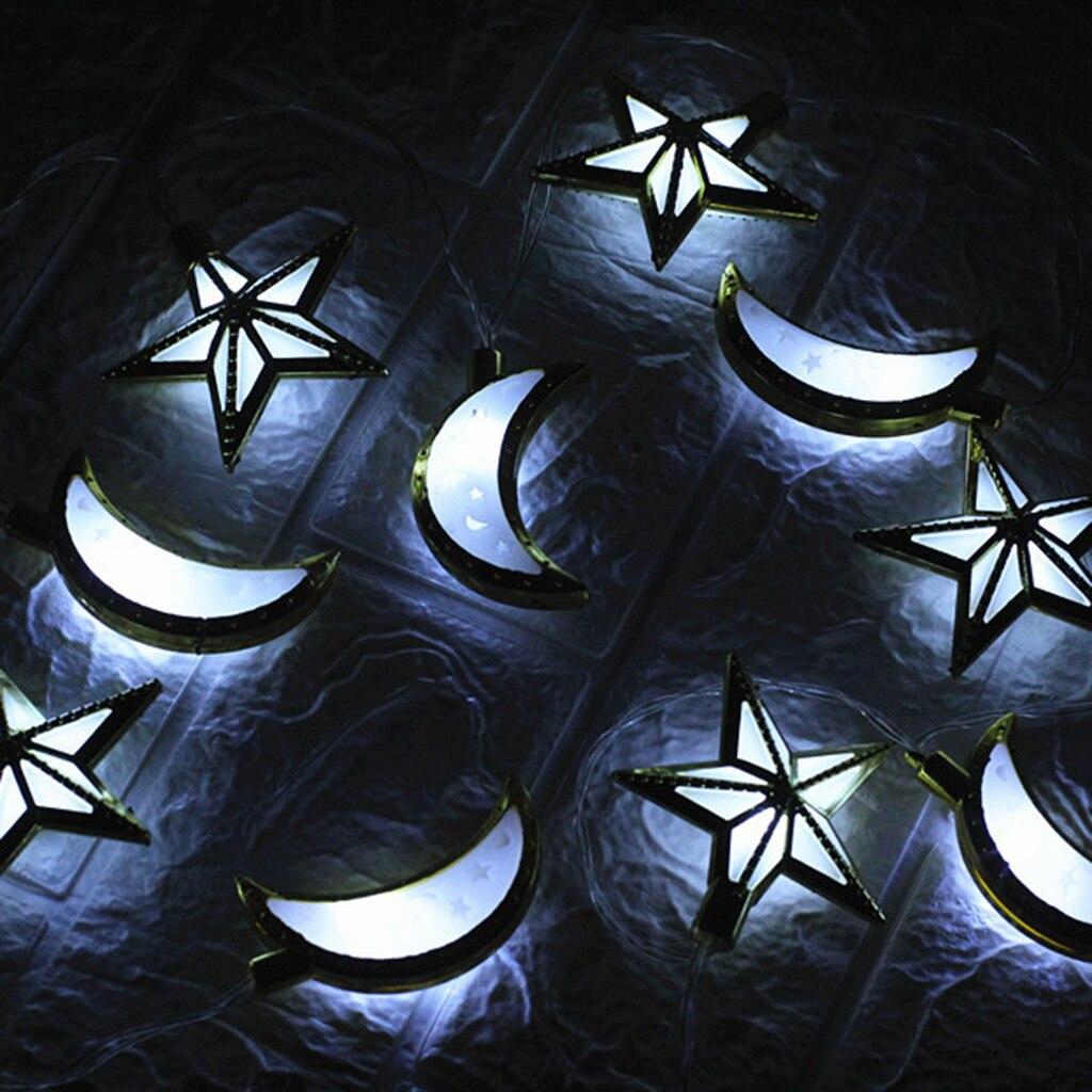 Рамадан и Eid Декор огни Светодиодный свет Главная фестиваль вечерние Фестиваль пользу приятно Строка Света просвечивающие нитка для украшения дома - Цвет: B