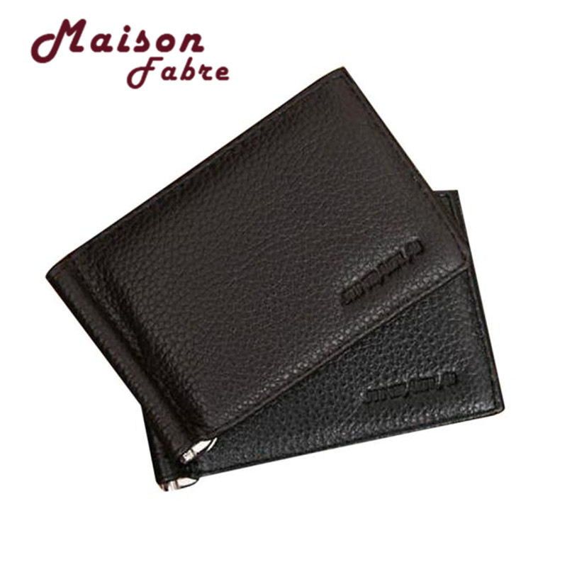 Maison Fabre Jasmime Ultra Slim Men's Leather Bifold Money Clip Wallet ID Credit Dec21 zelda wallet bifold link faux leather dft 1857
