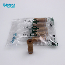 Glotech Mini wood 510 thread drip tip replacement mouthpiece for  RDA RBA Atomizer DIY vaporizer