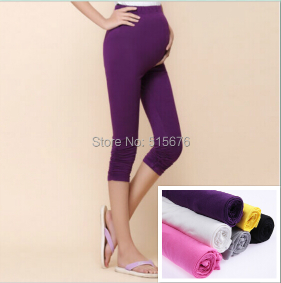 2015 Fashion Maternity Pants & Capris maternity clothing maternity summer leggings capris plus size clothes for pregnant women