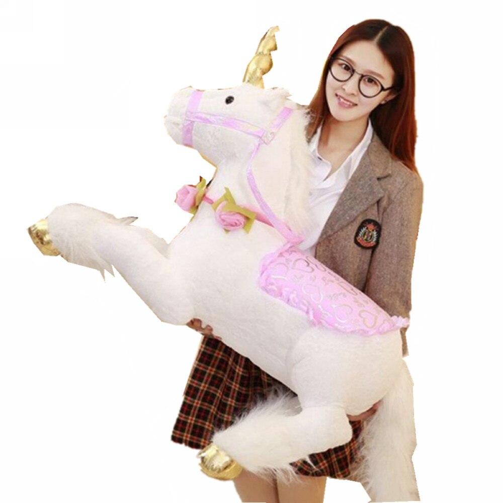 Fancytrader 100cm Jumbo Giant Plush Unicorn Toy Soft Stuffed Horse Animal Home Decoration Children Photograph Prop Great Gift