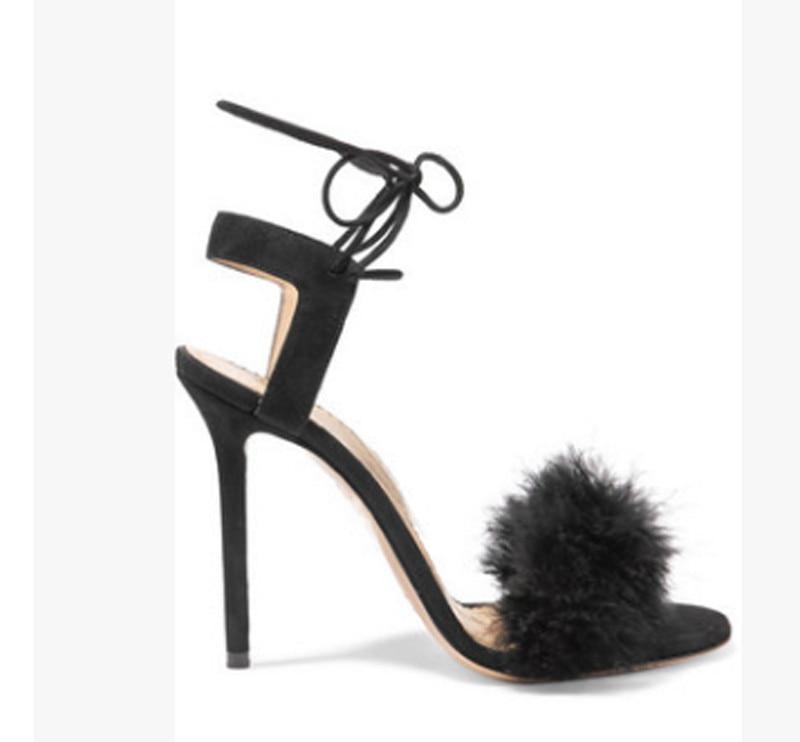 Mujer Sandales Chaussures Hauts Sandalias À Pictures Ouvert De Bout As Lacets Soirée Femmes Dames D'été Évider Mince Talons 1xR1705q