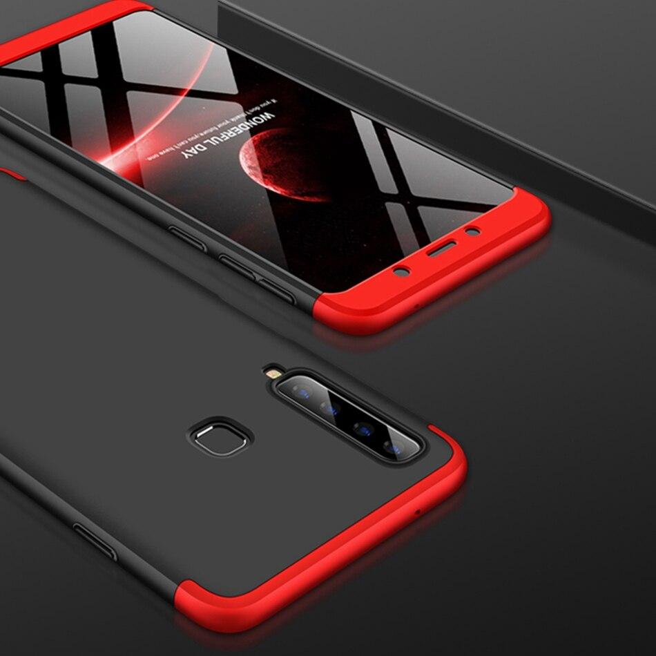 10 pièces 360 Degrés Couverture Complète Pour Samsung Galaxy A9 Star Lite A8 Plus A6 2018 J4 J6 J2 Pro J3 J5 J7 J8 Dur PC 3 En 1 coque de téléphone
