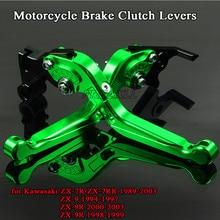 Motorbike Levers Motorcycle Brake Clutch Levers Foldable For Kawasaki ZX-7R ZX-7RR ZX-9 ZX-9R ZX7R ZX7RR ZX9 ZX9R ZX 7R 7RR 9 9R цена