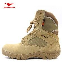 25a224a3735 Baideng hombres profesional táctico senderismo Botas impermeable  transpirable DELTA ejército combate Botas Militares Sapatos Masculino(