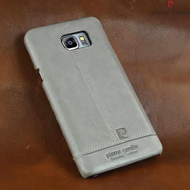 best service cf263 ef4d6 US $19.99 |Pierre Cardin Genuine Leather Case Cover Fit For Samsung Galaxy  Note 5 Grey-in Fitted Cases from Cellphones & Telecommunications on ...