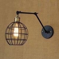 Эдисон стены бра скандинавском стиле лофт промышленного бра старинные регулируемая утюг искусства настенные светильники для домашнего ос...