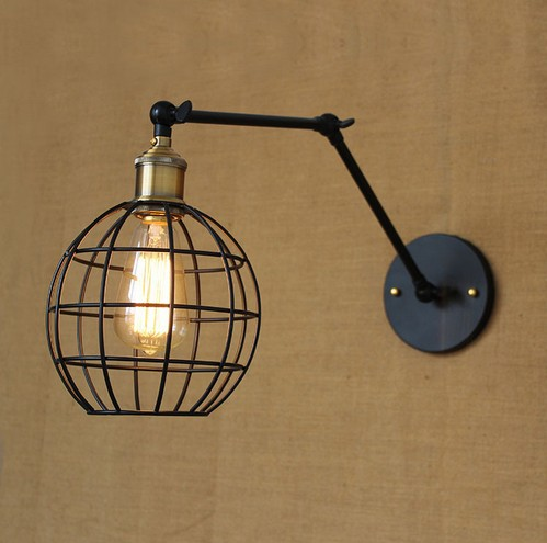 Edison Wall Sconce Nordic Loft Style Industrial Vintage Wall Lamp Adjustable Iron Art  Wall Light Fixtures For Home Lighting vintage nordic retro edison bulb light chandelier loft antique adjustable diy e27 art spider pendant lamp home lighting