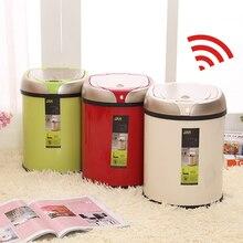 Туалет мусорное ведро Нержавеющаясталь мусорное ведро Рождество 6L 8L 12L индуктивной Тип мусорный бак Smart Сенсор автоматический Кухня и