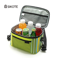 SIKOTE 5L 600D Oxford Cloth Lunch Bag Waterproof Insulated Bags for Picnic Keeping Fresh for Food for Women Men Stripe Style Bag