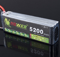Lion Power 3S Lipo Battery 11.1V 5200MAH 30C MAX 35C AKKU LiPo RC Battery For Rc Helicopter Car Boat 3S free shipping