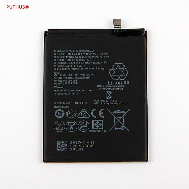 Brilliant For Hua Wei Original Phone Battery Hb396689ecw For Huawei Mate 9 Mate9 Real 4000mah High Quality Replacement Batteries Skillful Manufacture Mobile Phone Parts