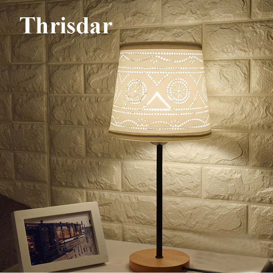 Modern E27 Wooden Table Lamp With Switch ON/OFF Cloth Lampshade Wooden Bedside Desk Lamps Modern Study Book Reading Light semyon bychkov giuseppe verdi otello blu ray