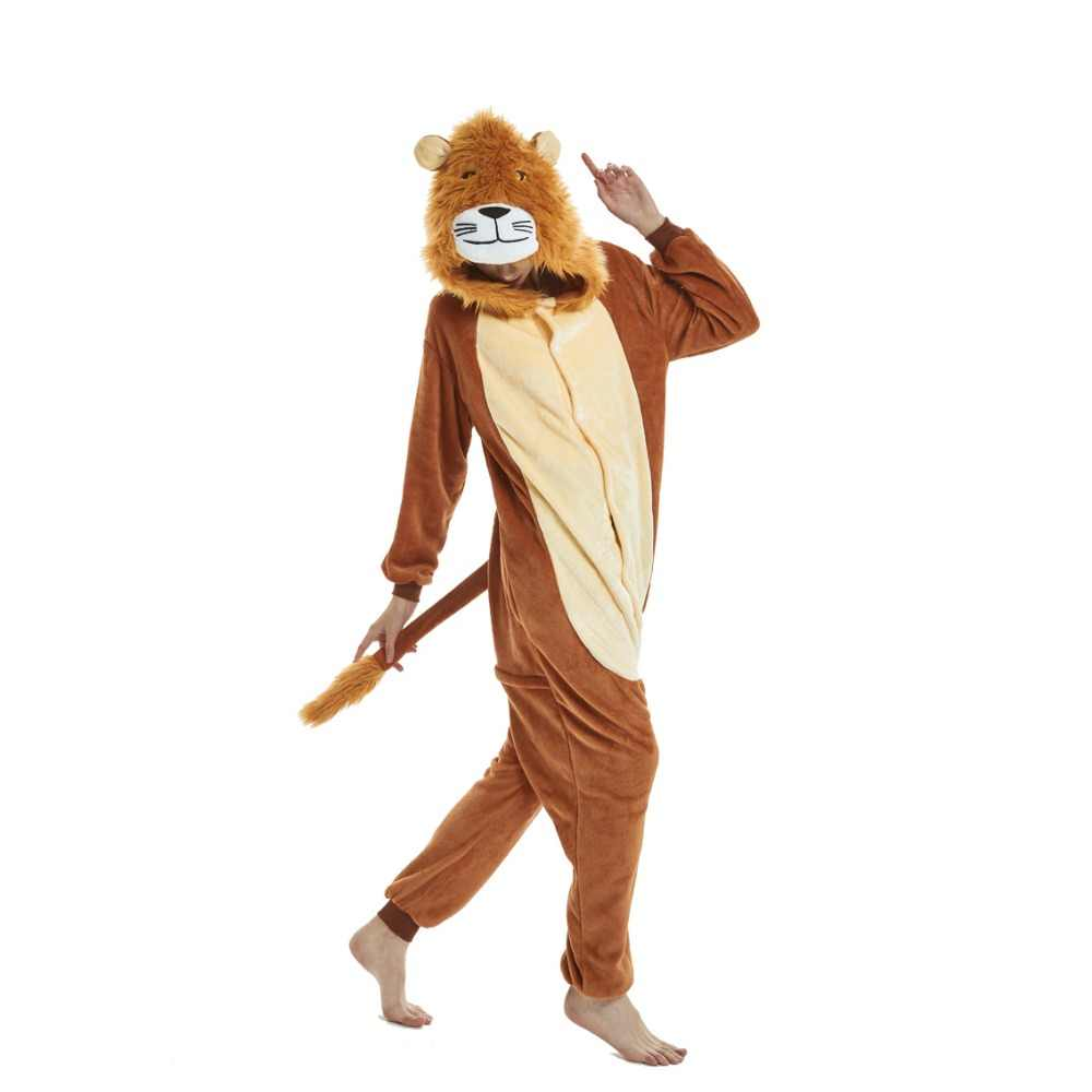 019a1fef3c2f Dropshipping Animal Adult Brown Bear Kigurumi Kumamon Pajamas Pikachu Panda  Stitch Lion unicorn Onesies Cartoon Cosplay