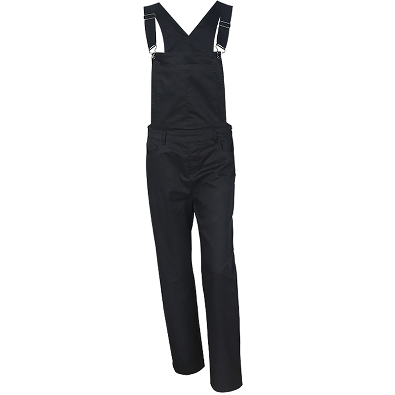 HDY Haoduoyi Black Boyish Zipper Side Pockets Overall Women Jumpsuits Rompers Cargo Suspender Pants Fashion Streetwear