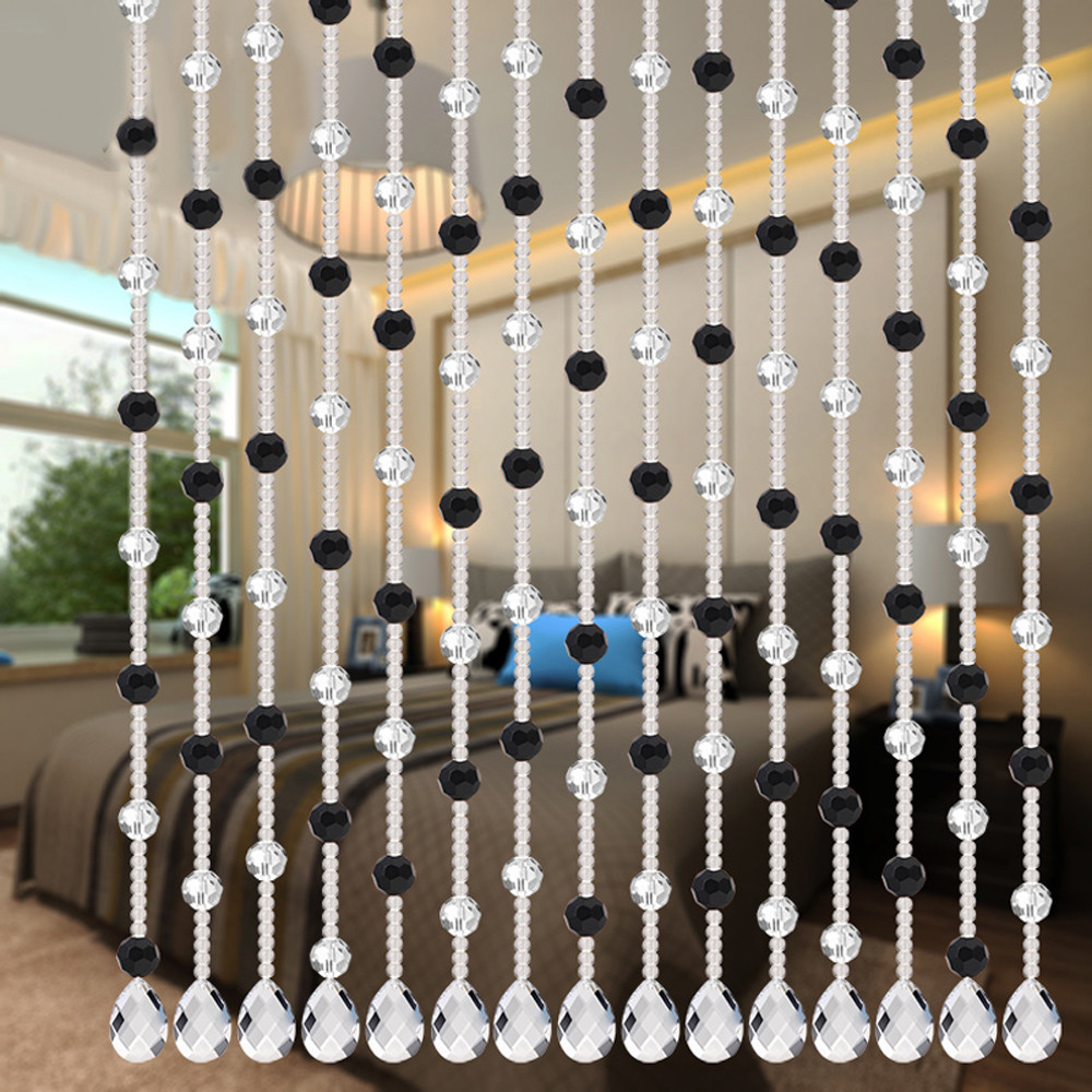 Bead curtain crystal partition curtain finished product crystal bead - Ouneed Crystal Glass Bead Curtain Luxury Living Room Bedroom Window Door Wedding Decor 302017 Hot