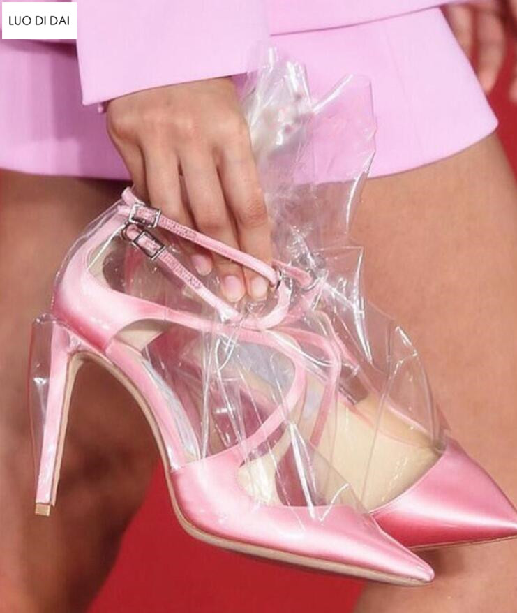 Toe Pompes Mince Chaussures Talons Habillées Imprimer De as 2019 Femmes Fleur Pic Mariage Nouveau As Talon Pic Point Hauts Pvc Soirée wx6zvYq