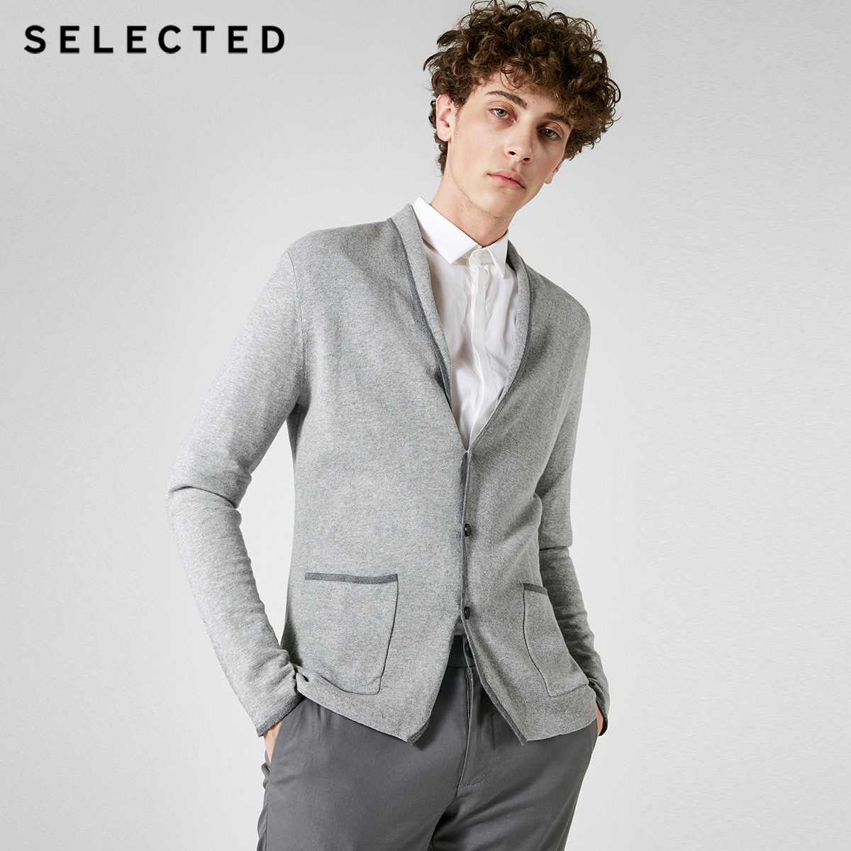 SELECTED Autumn Men's Wool-blend Assorted Colors Long-sleeved Cardigan Casaco Masculino Sweater Men S|417324513