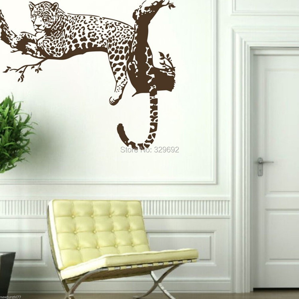 Leopard Wallpaper For Bedrooms Aliexpresscom Buy Wholesale Wall Stickers Can Be Customized
