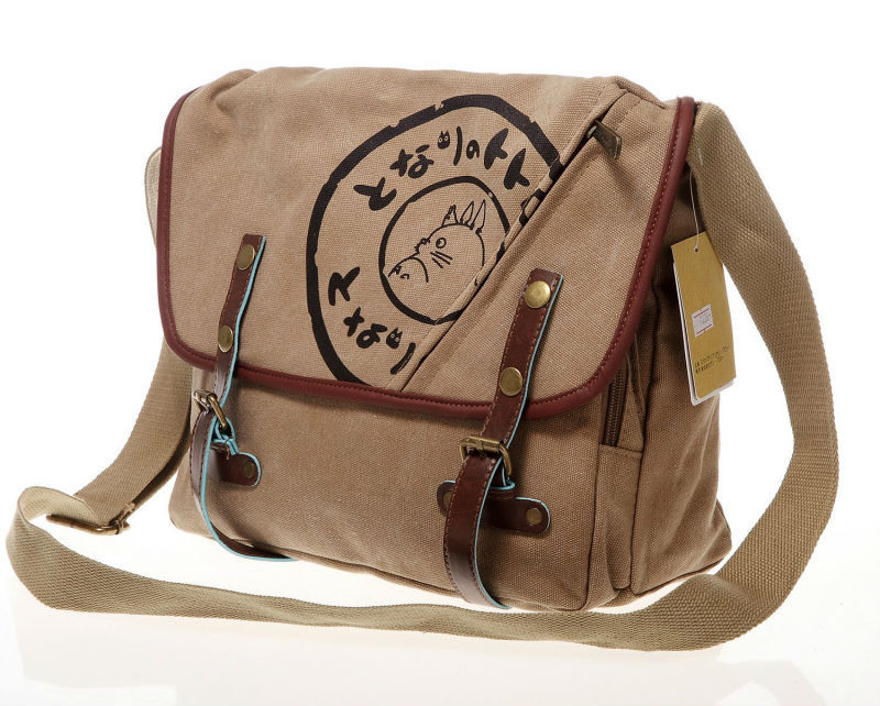 3a41510d7195 Studio GHIBLI mon voisin Totoro toile messager sac oblique sac Brown ...