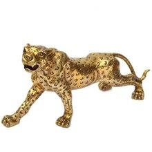 La antigua ciudad de luz de cobre leopardo talismán de la suerte artesanías Casa Feng Shui regalos de empresa