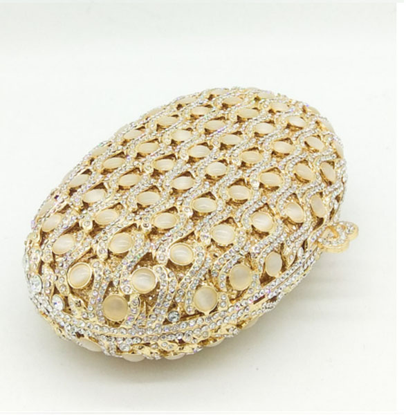 gold Evening Dress Bag Women Dinner Clutch Bag Pochette Soiree Lady Clutches With Crystals Pearl Diamond party Purse