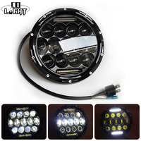 CO LIGHT 7 INCH ROUND LED HEADLIGHT 75W 35W HIGH LOW BEAM H4 H13 10 30V