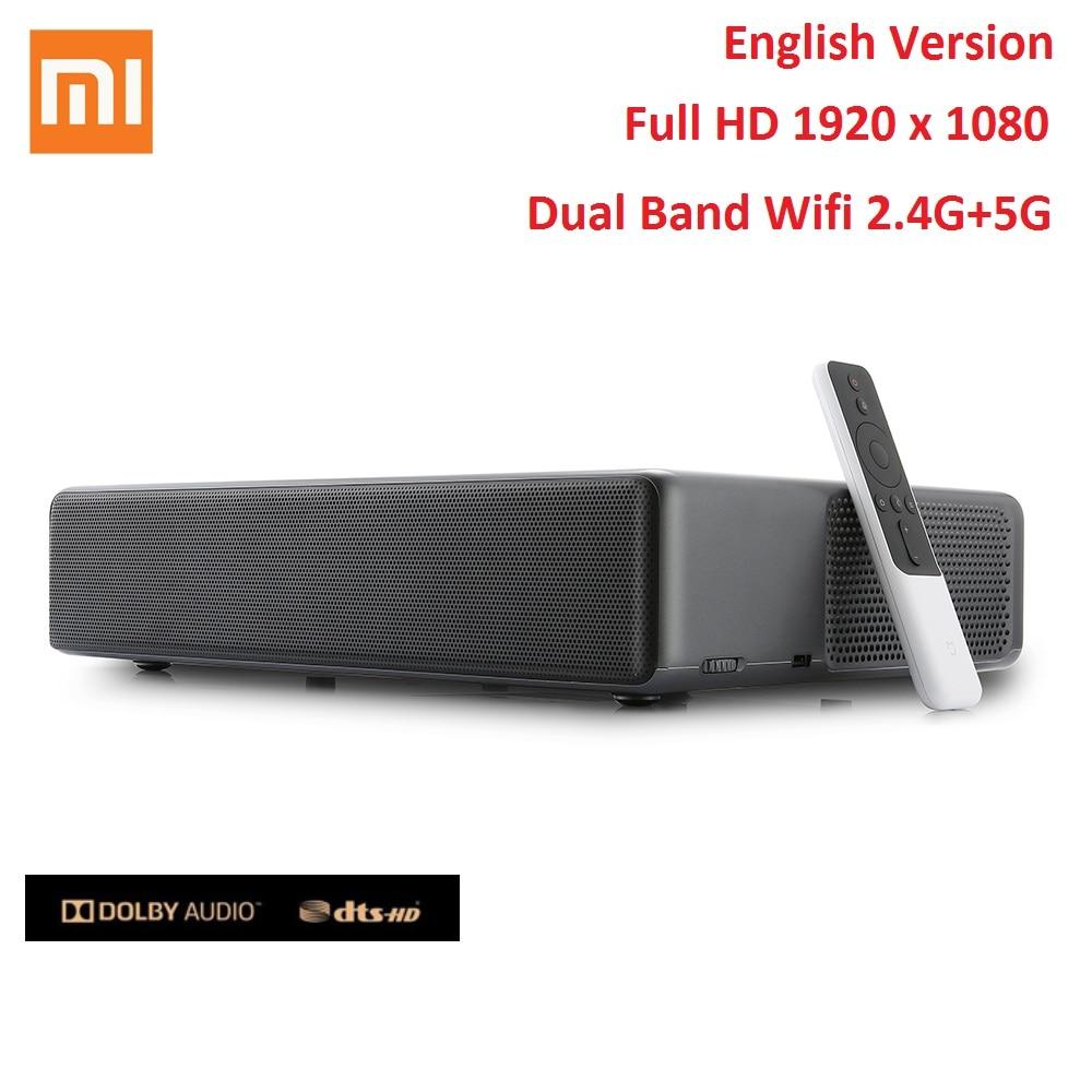 Full-HD HDR, Dolby Audio // DTS HD, WLAN, USB, HDMI, Bluetooth, Ethernet, Audio Output, AV Input, ALPD 3.0, 5000 Lumen Xiaomi Mi Laser-Projektor 150 High End Speaker Android 8.1 Google Assistant