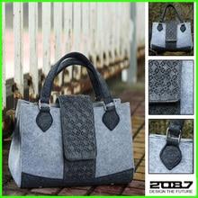 2087 Fashion Copper Series Felt Lady Handbag Pure Hot Sale High Quality Felt Women's Leather Bag