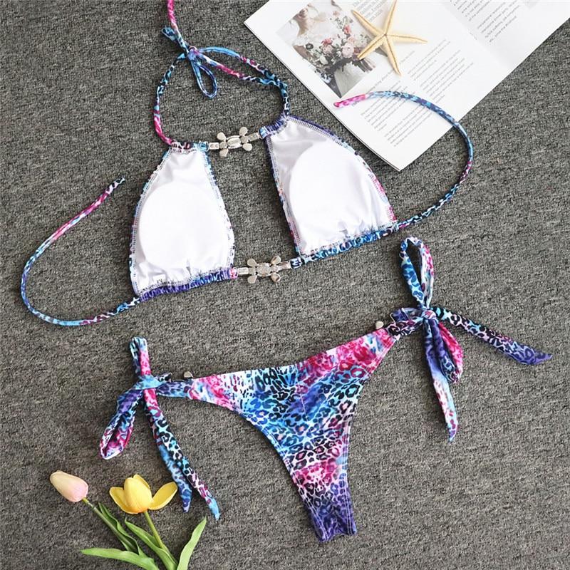 HTB1HWB5e21H3KVjSZFHq6zKppXaN Bikinx Snake print bikinis 2019 mujer bathing suit Triangle sexy female swimsuit Push up swimwear women bathers Micro bikini new
