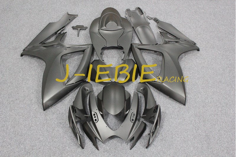 Matt Black Injection Fairing Body Work Frame Kit for SUZUKI GSXR 600/750 GSXR600 GSXR750 2006 2007