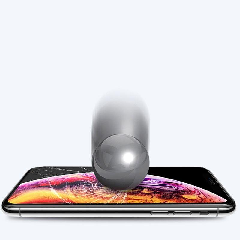 Image 5 - Full screen Anti sneak Peek Phone Film Tempered Film For Iphone 6 6s 7 8 For Iphone X XS For Iphone XSmax-in Phone Screen Protectors from Cellphones & Telecommunications