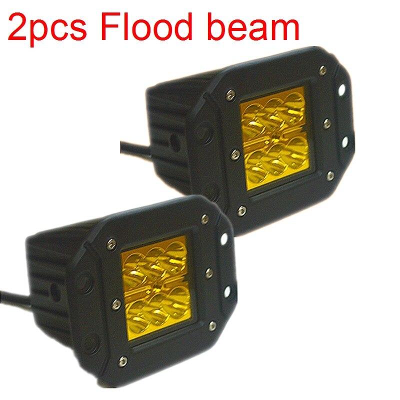 2pcs 18W LED Work Light Offroad Driving Fog Lamp Car Motorcycle Headlight 4x4 truck ATV SUV